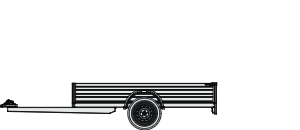 Flat bed trailer - single axle