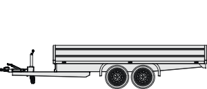 Flat bed trailer - twin axle